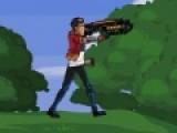Что может быть увлекательнее охоты на динозавров?! У вас есть отличная пушка. Так почему бы не поохотиться. Но видимо динозавры решили начать охоту на Вас. ваша задача отбить атаку нападающих динозавров.