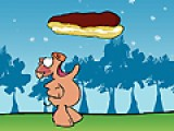 В этой игре тебе придется позаботиться о том, что бы прожорливая свинка не осталась голодной. Передвигай мышку из стороны в сторону, что бы свинка могла ловить падающие пирожные и тортики.