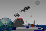 Ваш стратегический бомбардировщик подвергся атаке НЛО. Ваше место - стрелка во вращающейся турели. Вы должны ориентироваться по радару и вести прицельный огонь по инопланетянам, отбивая все их атаки.