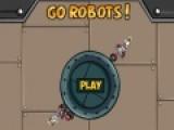 Помоги роботам добраться до своих порталов. Для этого используй физические свойства окружающих их предметов.