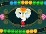 Еще один из вариантов классической игры зума. Даже слоны ее любят. Выстраивайте шарики одного цвета в цепочки, что бы они исчезли. Не дайте шарикам добраться до конце лабиринта.