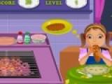 Голодная Хейли свела сума ни одного повара. Ведь ее практически невозможно накормить. Но именно этим тебе и предстоит заняться. Ты должна готовить еду, которую девочка заказывает, а если ты приготовишь его не правильно, то капризная Хейли кинет в тебя ложку.