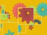 Поменяйте картинки с кусочками шестеренок местами так, чтобы получился правильный механизм. Прояви логику и у тебя все получится.