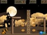 В этой игре на тему Хэллоуина Вы должны стрелять чучелами из пушки и рассчитывать угол полёта так, чтобы они в процессе полета подобрали все тыквы.