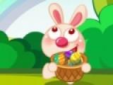 Помоги пасхальному кролику ловить яйца. Управляй игрой при помощи мыши. Лови все пасхальные яйца, кроме черных. Помни, что в корзинке должны быть только яйца. Если ты будешь ловить овощи, твои очки будут сгорать.