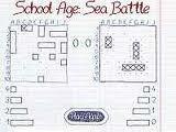 School Age: Sea Battle Вспомним школьные годы, когда играли в Морской бой в тетрадках. Расставляем корабли (для разворота корабля дважды кликаем по нему), а затем уничтожаем корабли противника.