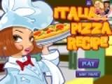 Перед Вами отличная игра для девочек, которые любят и умеют готовить еду. Цель игры приготовить пиццу по настоящему итальянскому рецепту. Рецепт подскажет повар. Но нужно делать все четко и быстро, что бы пицца вышла вкусной.