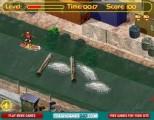 Очень красивая игра про городского сёрфера-гонщика. Помоги ему успеть проплыть по каналу с кучей разных препятствий!
