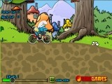 В этой игре Смурфики приспособили велосипед для гонок по холмистой местности. В Ваших силах помочь смурфику преодолеть высокогорную трассу и совершить удачные приземления после всех прыжков!