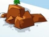 В этой спортивной игре Вам предстоит помочь герою спуститься по горному склону и собрать максимум бонусов. Но горный склон полон препятствий. Старайтесь не врезаться в скалы и куски льда, что бы не перевернуться.