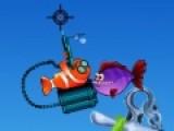 Не так уж просто выживать маленькой рыбке в подводном мире полном хищников. Но это до тех пор пока у маленькой рыбки нет оружия. помогите оранжевой рыбке отстреляться от кровожадных врагов.