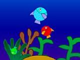 Что бы Ваша рыбка выросла, она должна есть рыб, которые меньше ее по размеру. Помогите рыбке поймать как можно больше добычи. Используйте для этого навигационные кнопки Вашей клавиатуры.
