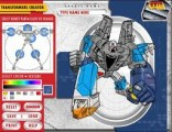 В этой игре Вы можете создавать своих собственных роботов-трансформеров! Выбор комплектующих осуществляется мышью.