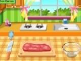 Давайте с Вами будем готовить еду в этой увлекательной игре про кулинарию для девочек.  Какое же блюдо нас ожидает. Это будет ризотто из ячменя с ягненком. Что бы блюдо получилось вкусным выполняйте все инструкции повара.