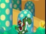 Марио и Дракончик Йоши собирают золотые монеты. Помоги им не свалиться в пропасть. Для этого нажимай на левую кнопку мыши, что бы друзья подпрыгивали.