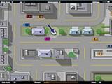 Игра по мотивам GTA. Управляйте машиной и пытайтесь добраться до контрольных точек. Избегайте столкновений с полицейским вертолетом. Обращайте внимание на стрелочку, показывающую направление движения.
