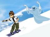 В этой игре Ben 10 будет заниматься сноубордингом. Наша задача — доехать до конца горы целым и невредимым, уворачиваясь от препятствий и спасаясь от преследующего его злого призрака.
