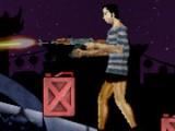 У вас кончился бензин и как назло вы попали в центр зомби-апокалипсиса, но оружия у вас предостаточно. Вперед и попытайтесь остаться в живых!