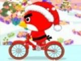 Веселая игра В которой ваша задача помочь птице на велосипеде преодолеть всю трассу и не перевернуться при этом собрать максимальное количество бонусов. Помогите птице выполнить свою миссию в такую холодную и снежную погоду.
