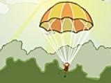 Помоги парашютистам приземлится на землю удачно. Нажимай пробел, что бы выпрыгнуть из самолета, а затем что бы открылся парашют. Старайся не сталкиваться с птицами.
