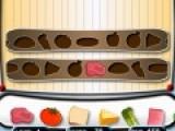 В этой игре Вам предстоит располагать на движущихся лентах продукты, что бы приготовить вкуснейшие бургеры. сделайте это как можно быстрее и получите максимум бонусов.