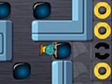 Постарайтесь доставить все кубики на круглые платформы. Сделайте это как можно быстрее. Управляйте героем при помощи стрелочек.