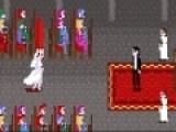 В погоне за счастьем любая девушка может преодолеть любые преграды. В этой же игре Вам предстоит помочь невесте пробежать дистанцию с препятствиями к алтарю, где ее уже ждет жених. Для того. что бы невеста начала бежать нажимайте очень быстро кнопки с изображением стрелочек вверх и вправо. Для того. что бы перепрыгнуть препятствие нажимайте на пробел.