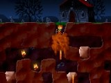 Очень забавная аркада-бродилка! Нужно как-то собрать сокровища и пробраться в самый низ подземелья. Не утонуть, не обжечься, не быть укушенным, придавленным. Вот такая задачка...