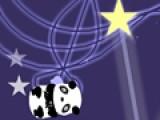 Отличная игра на ловкость, в которой панда зажигает звезды. Твоя задача помочь медвежонку. Что бы он оттолкнулся, нажми на пробел. А управляй полетом при помощи стрелок на клавиатуре.