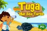 Недавно Диего познакомился с морской черепахой и должен помочь ей добыть как можно больше еды и избегать поедание различного мусора, плавающего под водой.