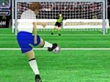 В этой спортивной онлайн игре Вам придется соревноваться с компьютером в умении забивать голы а так же ловить мяч, летящий в ваши ворота.