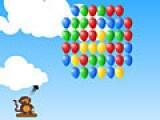 Помогите обезьянке сбить как можно больше воздушных шариков. Для этого корректируйте мышкой угол и силу выстрела.