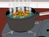 В этот раз Вам предстоит приготовить овощной салатик.  выполняйте все инструкции, что бы он вышел восхитительным.