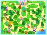 В этой развивающей игре Вы должны помочь Принцессе дойти до ее замка. Чтобы пройти по дорожкам нужно собирать еду и угощать животных.