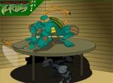 На этот раз черепашкам противостоят какие-то двуногие роботы, которые пытаются сбежать из под стола. Постарайтесь уничтожить их как можно больше за отведенное время.