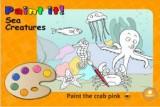 Игра из серии Paint It - изучаем английские слова, раскрашивая морских обитателей.