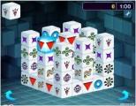 Великолепная трехмерная реализация игры  Маджонг. Составьте комбинации из двух одинаковых плиток, чтобы удалить их с поля. У плиток должно быть по крайней мере две свободных стороны.