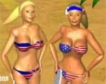 Очаровательные девушки играют в теннис на пляже. Вы можете принять в игре участие, выбрав одну из девушек - начинаете играть вместо нее.