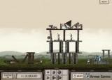 Интересная игра про катапульты и разрушение замка. Нужно разрушить замок с помощью катапульты. С каждым уровнем замки все мощнее и мощнее.