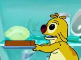 Монстр №625 из мультфильма решил скушать вкусный бутерброд. Для этого монстр должен ловить подходящие ингредиенты. Помоги ему управляя стрелочками. Но обрати внимание, что некоторые продукты пропали или несъедобные. Они не должны попасть в бутерброд нашего героя.