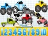 Эта математическая игра рассчитана на тех кто уже научился считать до десяти. Пусть ваш малыш посчитает машинки на экране и выберет цифру соответствующую их количеству. Эта игра поможет закрепить умение быстро считать и позволит перейти к дальнейшему обучению математике.