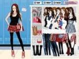 Майли Сайрус спешит на школьные занятия. Представь, в каком наряде она ходит в школу и помоги ей правильно одеться!