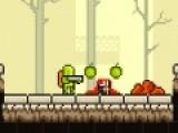 В этой игре зеленый человечек собирает фрукты и ягоды, а так же различные сладости. Но на пути у него встречаются разные опасности, которые он должен преодолеть.