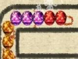 Что бы пройти уровень в игре под названием Китайский квест необходимо уничтожить всю змейку из разноцветных шаров. Для этого вы должны стрелять из пушки такими же шариками. Года соберется группа шаров одного цвета они лопнут.