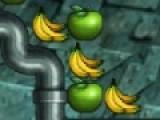 В контейнере находятся разные фрукты. Необходимо крутить контейнер так что бы три одинаковых фрукта выстроились в ряд.