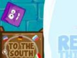 Играй в роли головы фиолетового кубика (Ice Purple Head), которому нужно попасть на юг. Загружай героя в ящик и отправляй отдыхать. Для этого просто замораживай, скидывай куб.