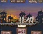 В этой игре Вам предстоит расправляться с зомби при помощи транспортных средств. Однако не допустите, чтоб машины свалились в пропасть!