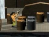 Современные гладиаторы не используют мечи для своей великой битвы. У них есть огнестрельное оружие, которое не дает слабому противнику ни единого шанса на выживание. Теперь ты стал гладиатором. Убей всех и выживи! Передвигайся кнопками W, A, S, D. E - смена оружия, левая кнопка мыши - выстрел. А если нажать на пробел, ты полетишь.