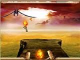 Вы выступаетет в роли охотника на драконов ! Уничтожай подлетающих драконов огненными стрелами, старайся делать это быстрее, чтоб они тебя не поджарили!