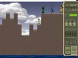 Девушка Тоф должна помочь друзьям перебраться с берега на берег. Для этого ей нужно проложить непрерывный путь для чего Тоф своей магией может уничтожать блоки земли.